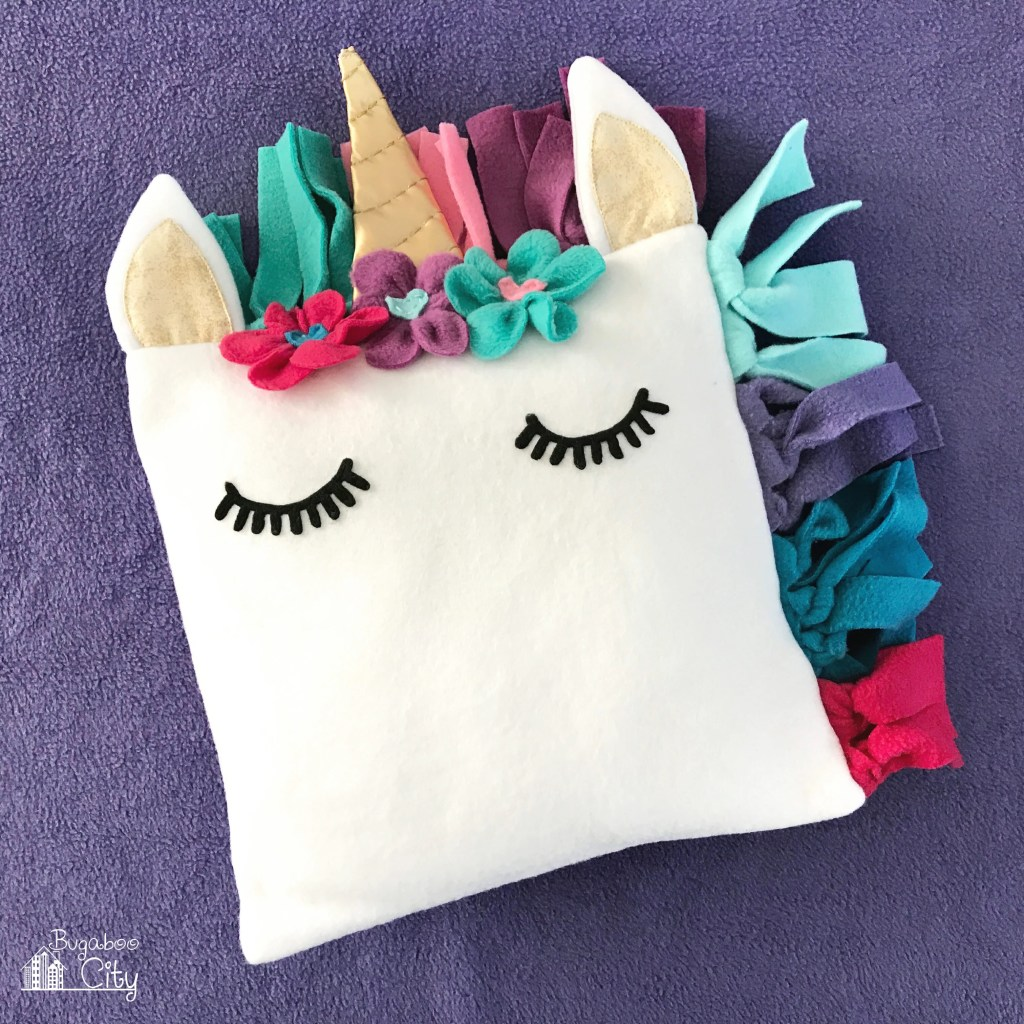 DIY Unicorn Fleece Pillow - Free Pattern
