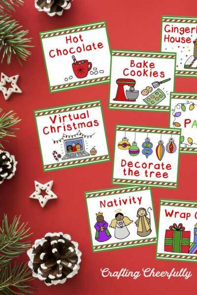Christmas Activity Calendar Cards