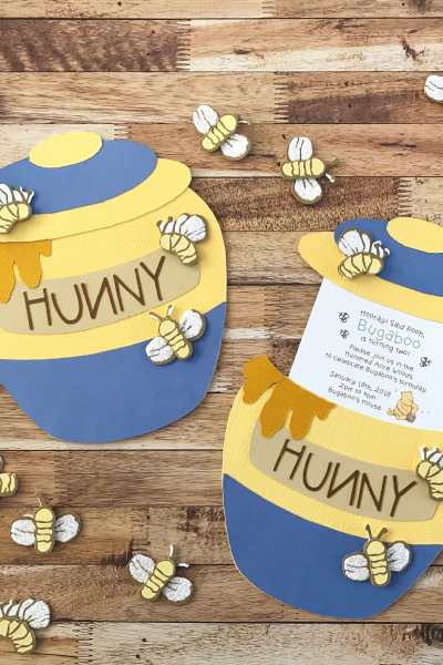 Honey Pot Slider Card and Party Invitation