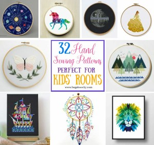32 Hand Sewing Patterns – Perfect for Kids' Rooms!