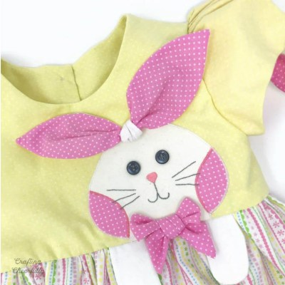 Handmade Bunny Dress with Simplicity Pattern 1208