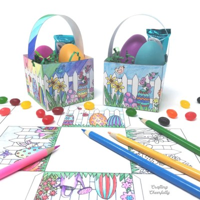 Color-Your-Own Easter Basket – Free Printable