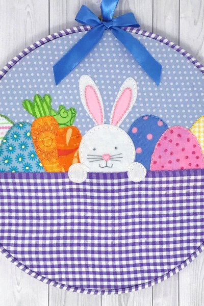 Easter Bunny Embroidery Hoop Art – Free Pattern