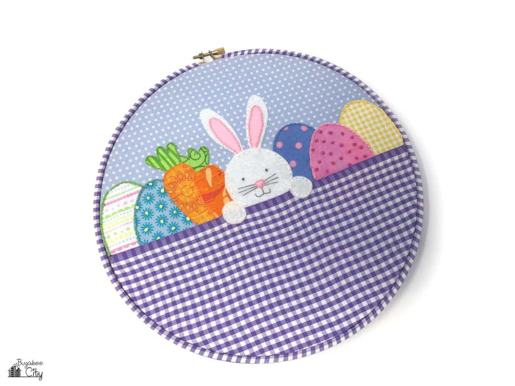 Easter Basket Embroidery Hoop Art with Free Pattern