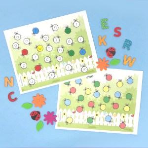 ABC Garden Dot Pages – Preschool Activity