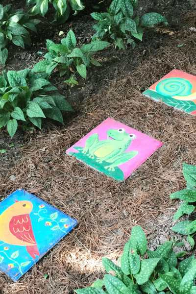 DIY Hand Painted Stepping Stones