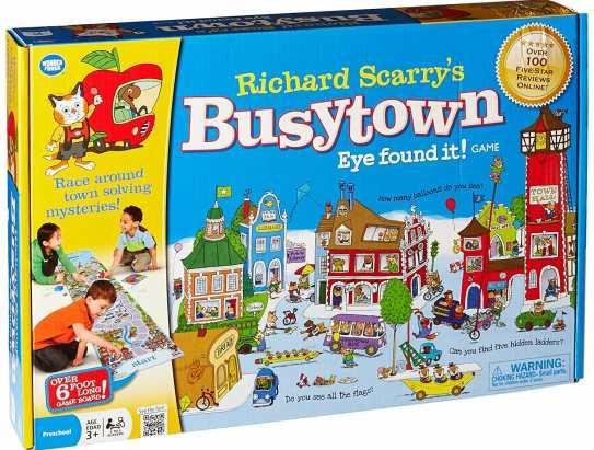 10 Fun Board Games for Preschoolers - Richard Scarry's Busytown, Eye found it!
