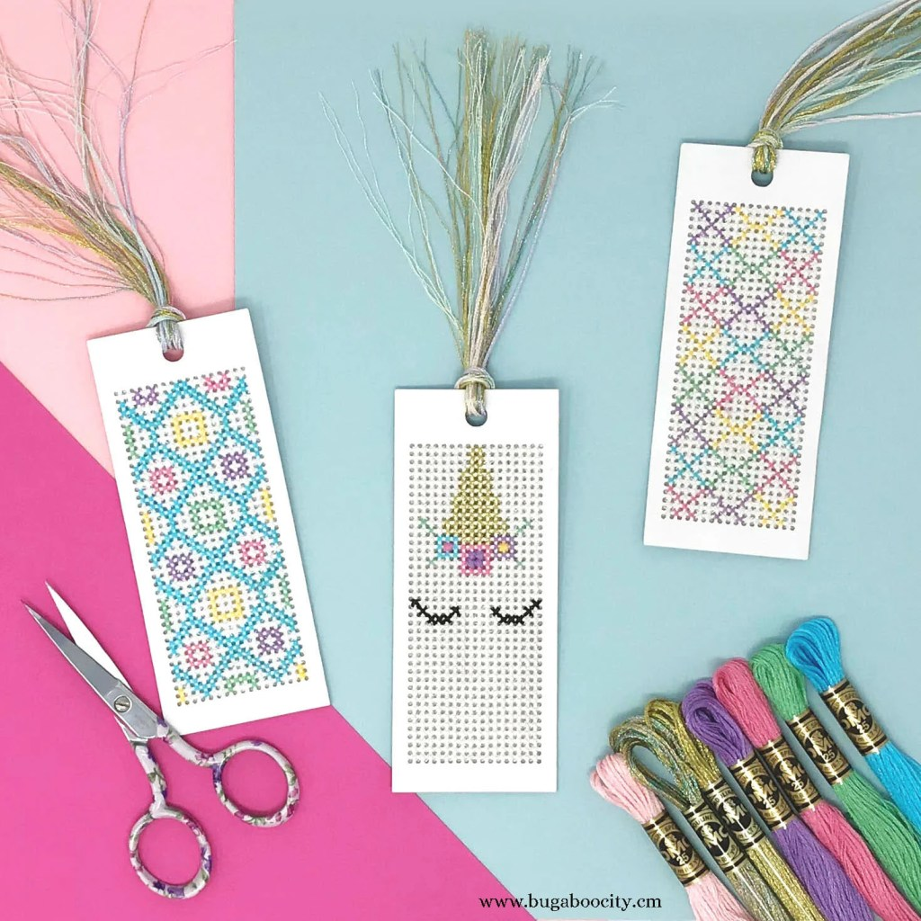 DIY Unicorn Cross Stitch Bookmarks - Free Pattern