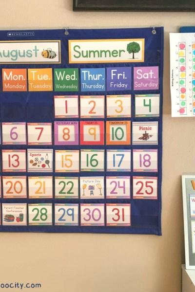 DIY Calendar Pocket Chart