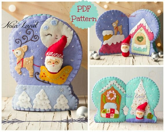 Christmas Snow Globe Soft Book by Noia Land