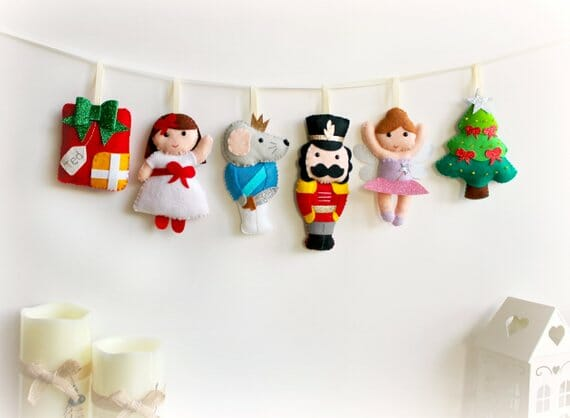 Felt Nutcracker Banner by Polly Chrome Crafts