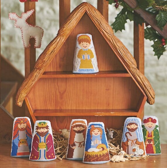Cross Stitch Nativity Scene by Sarah Cookland Designs