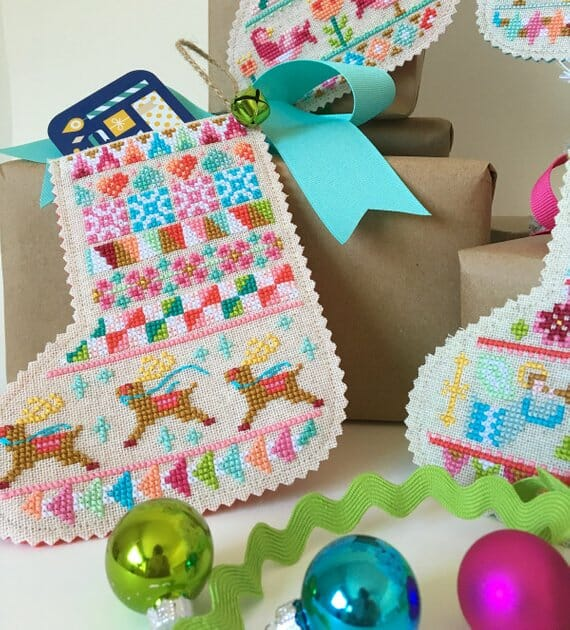 Mini Stocking Cross Stitch Patterns by Satsuma Street