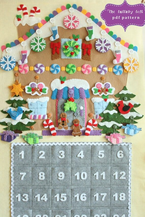 Gingerbread House Advent Calendar by The Lullaby Loft