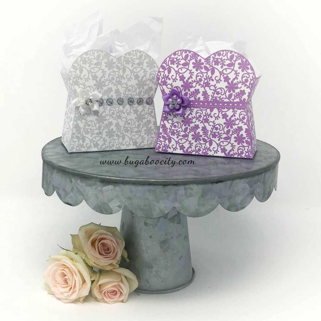 DIY Lace Dress Treat Boxes