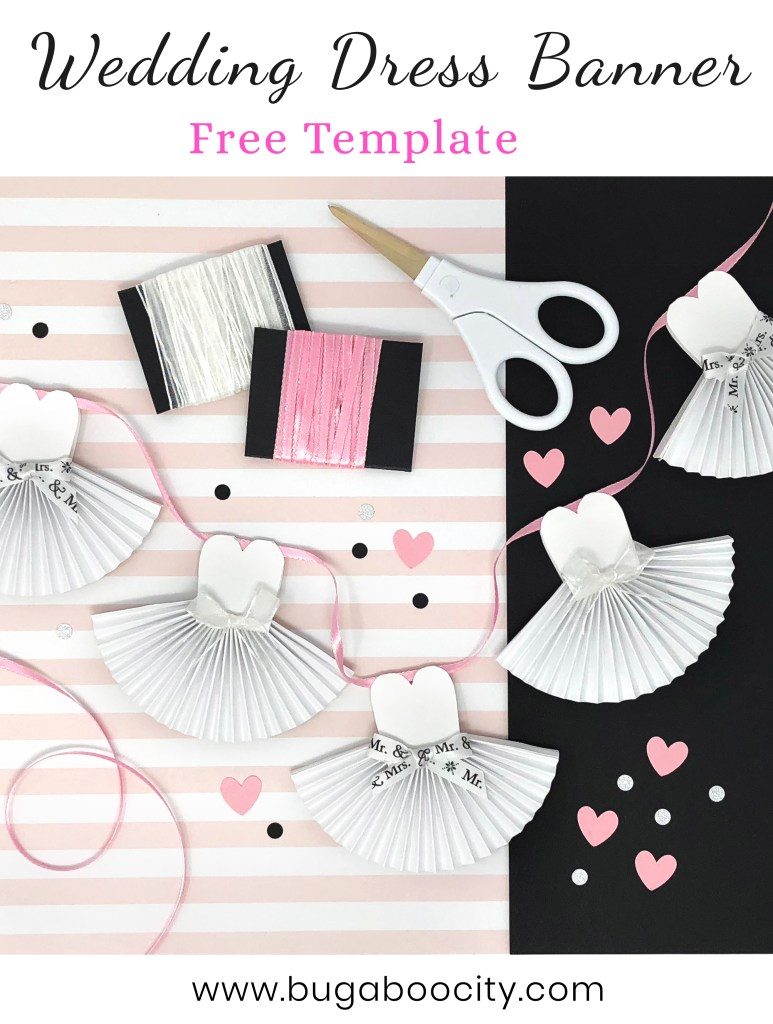 DIY Wedding Dress Banner with Free Template