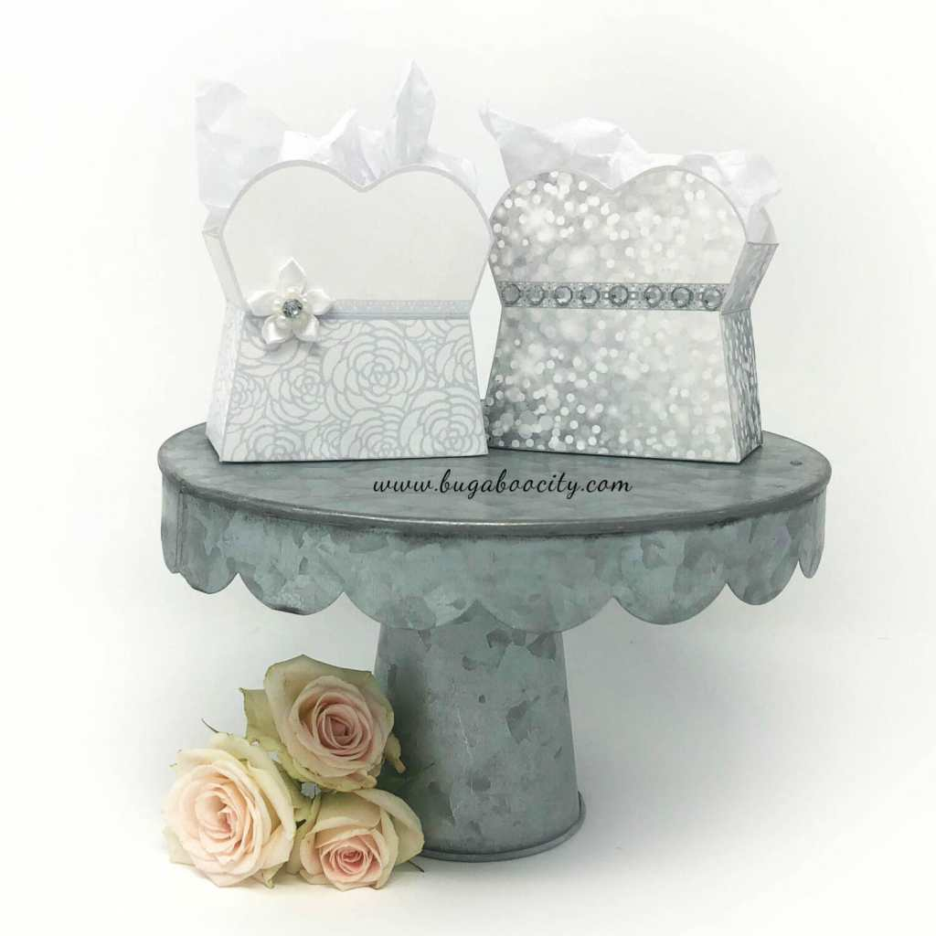 DIY Wedding Gown Party Favor Treat Boxes