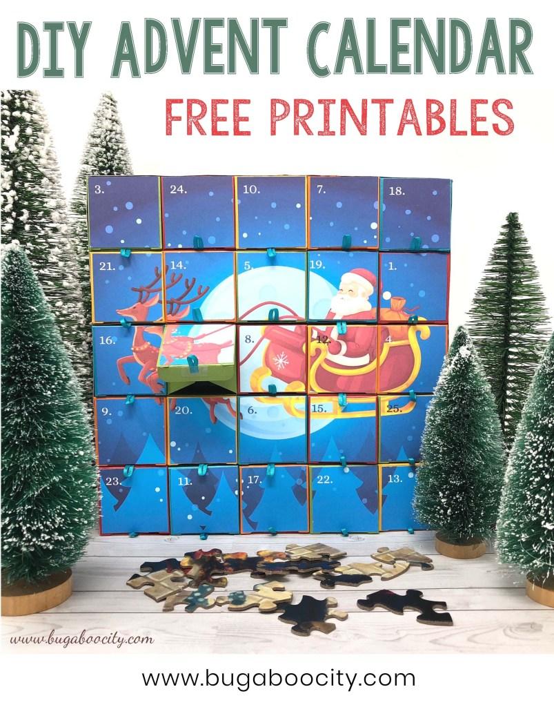 DIY Advent Calendar Free Printables