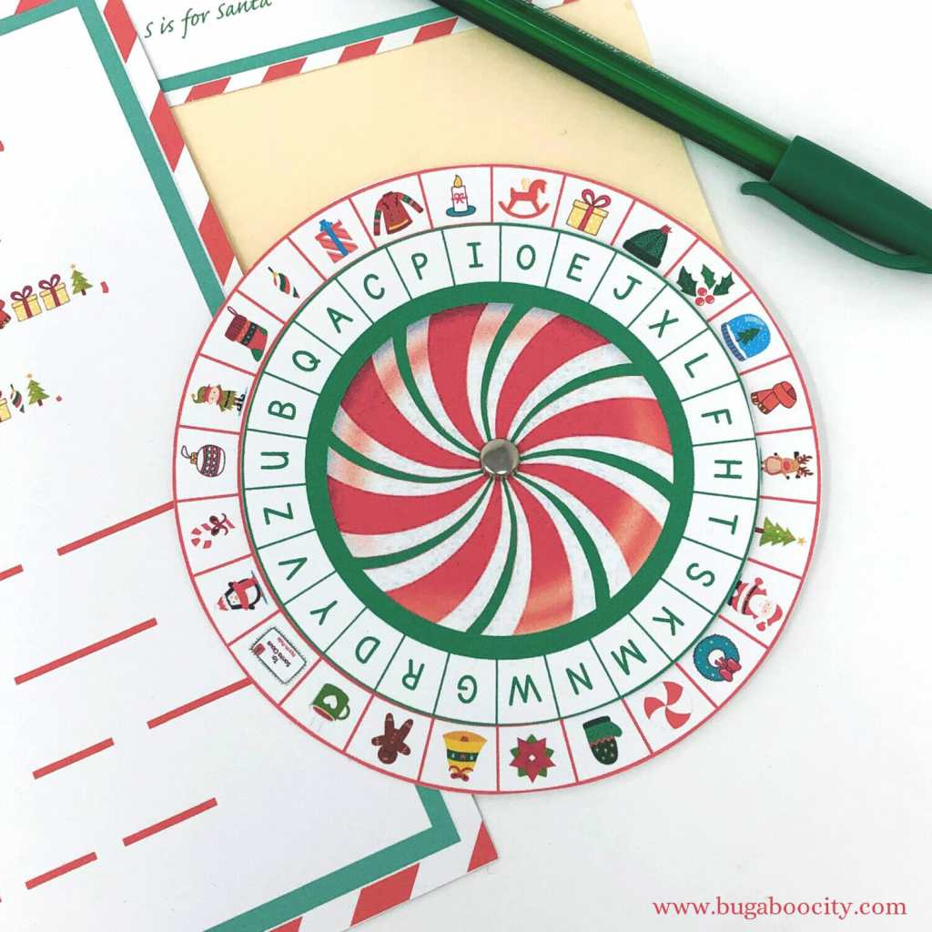 Christmas Secret Decoder Wheel Free Printable