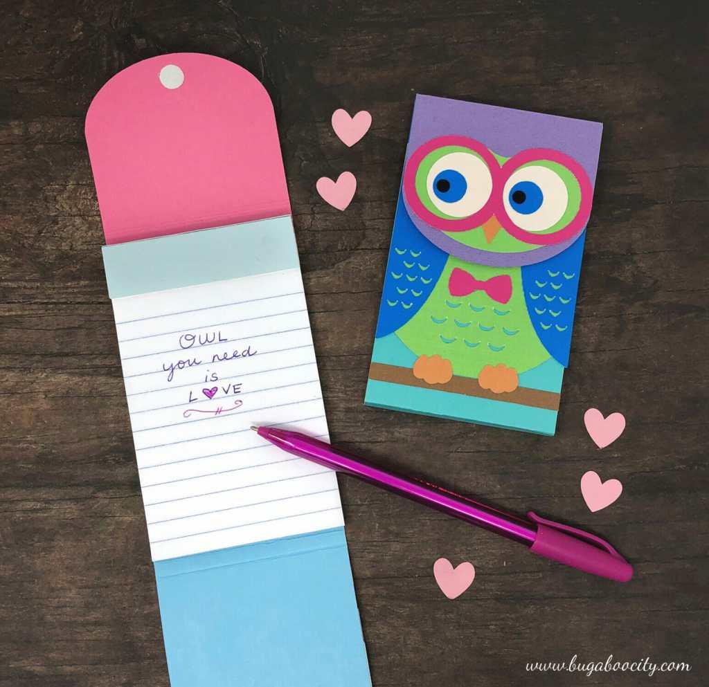 DIY Owl Notepad SVG Cut File