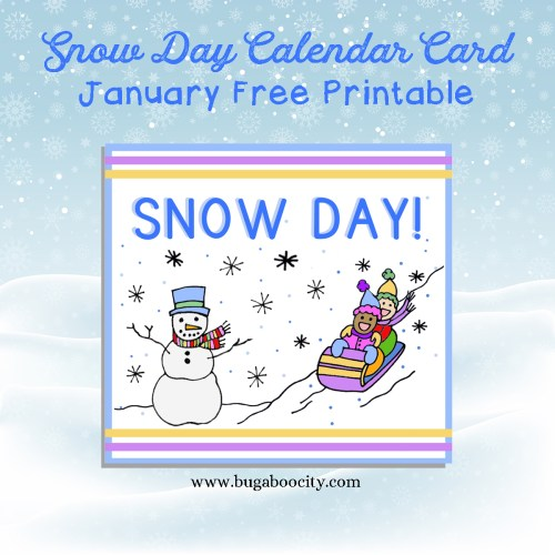 Free Monthly Calendar Card