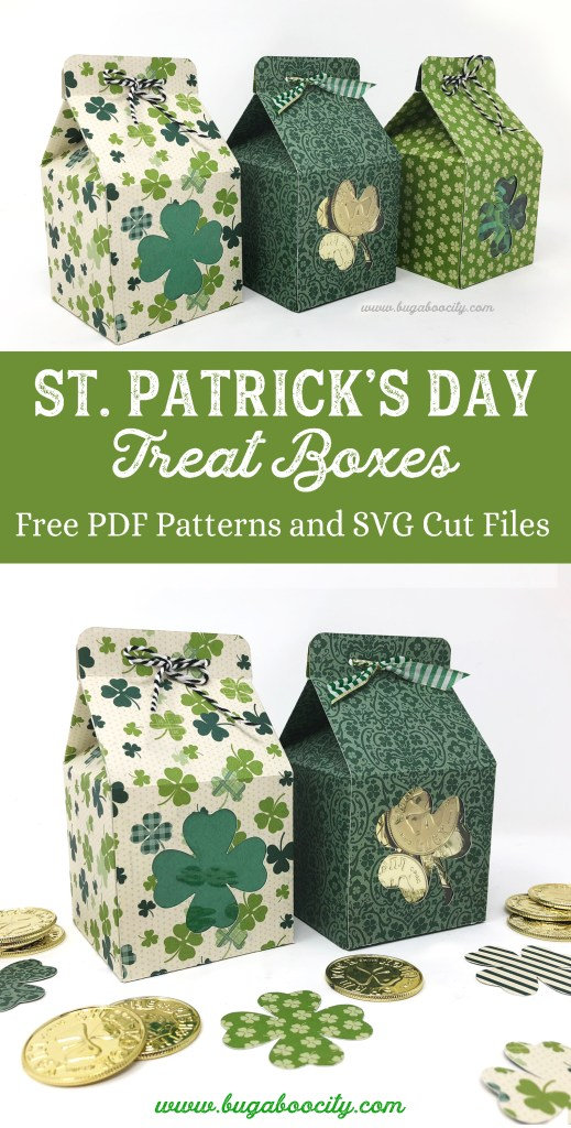 St. Patrick's Day Treat Boxes - Free PDF Patterns and SVG Cut Files