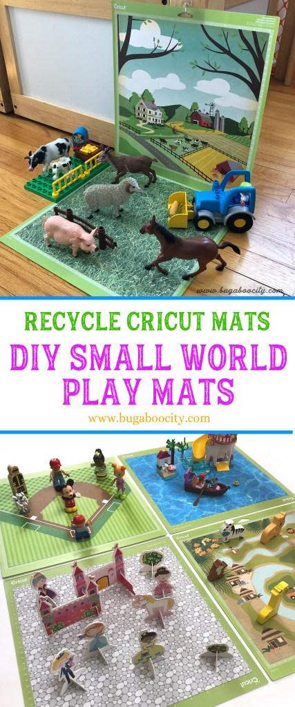 Recycle Cricut Mats - DIY Small World Play Mats