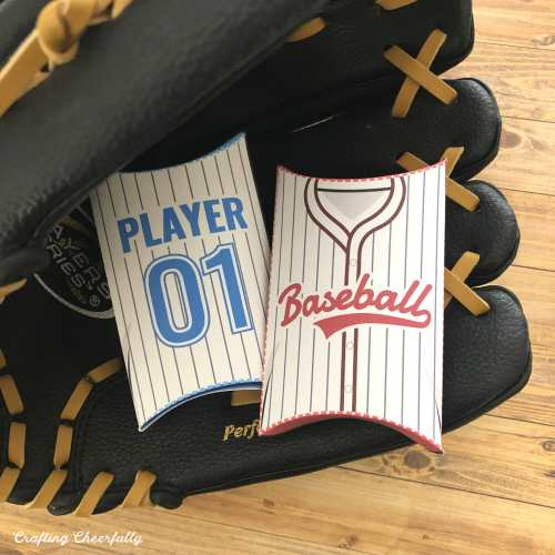 DIY Baseball Jersey Pillow Boxes