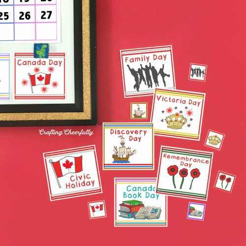 Canadian Holiday Calendar Cards