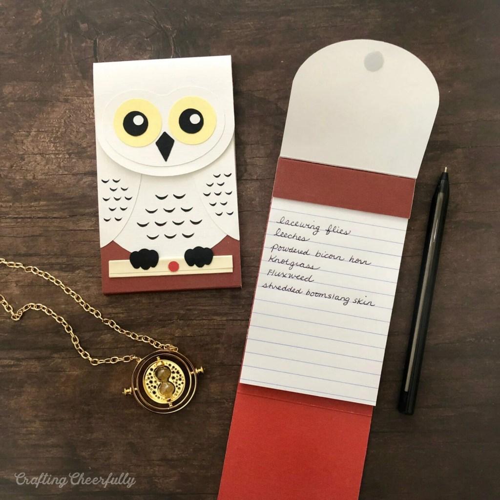 DIY Hedwig Owl Post Notepad