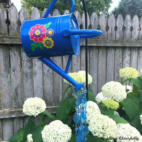 DIY Watering Can Garden Ornament