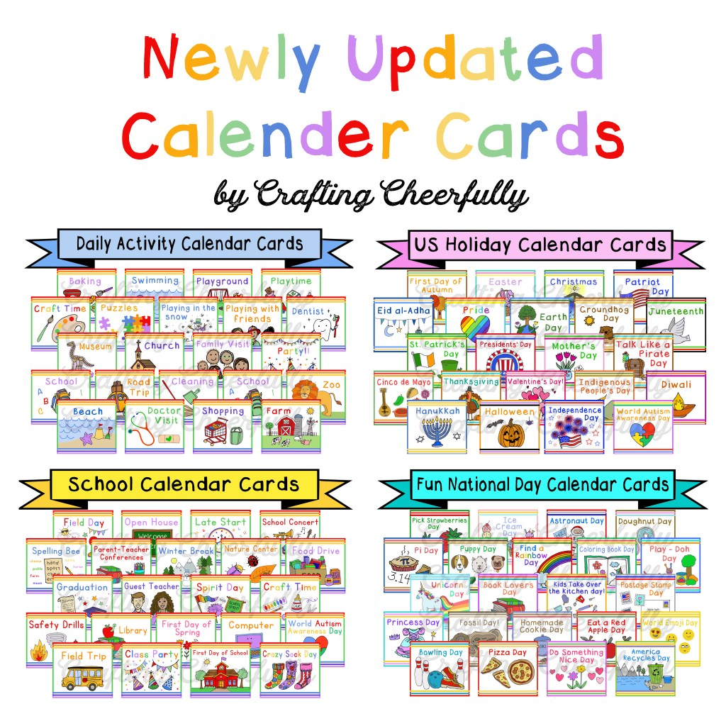 Newly Updated Calendar Cards by Crafting Cheerfully