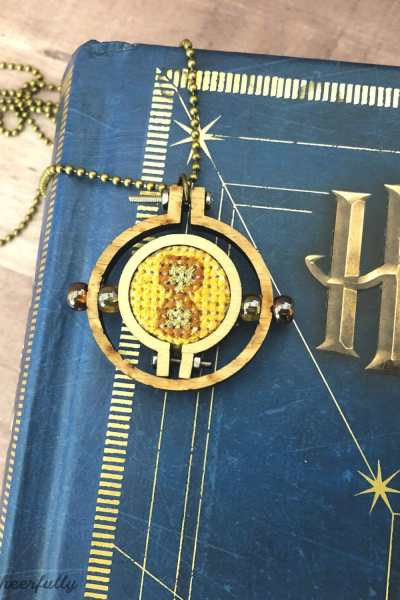 Cross Stitch Time Turner Necklace – Free Pattern!