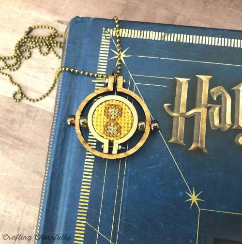 DIY Cross Stitch Time Turner Neckalce