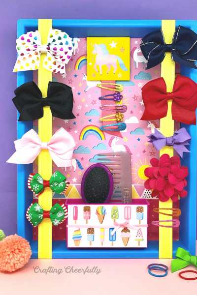 DIY Bow Holder for Hair Accessories