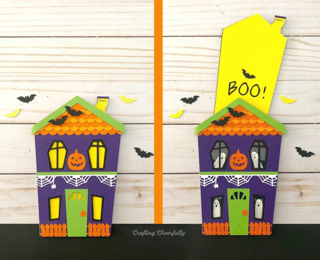 DIY Haunted House Slider Card