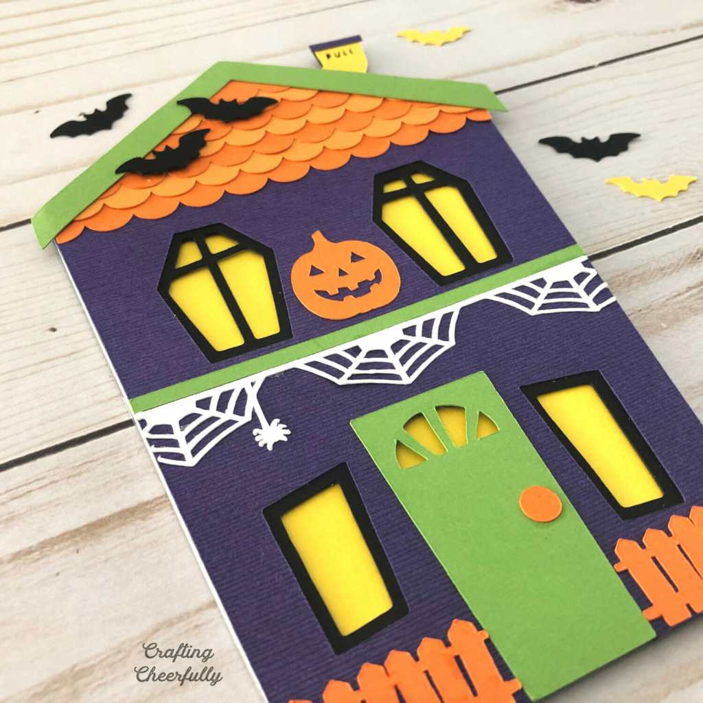 DIY Haunted House Slider Card