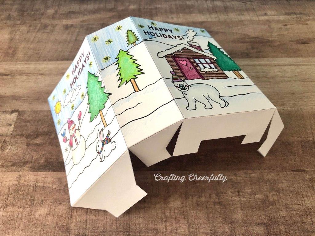 Color-Your-Own Holiday Gift Bag - Free Printable!!