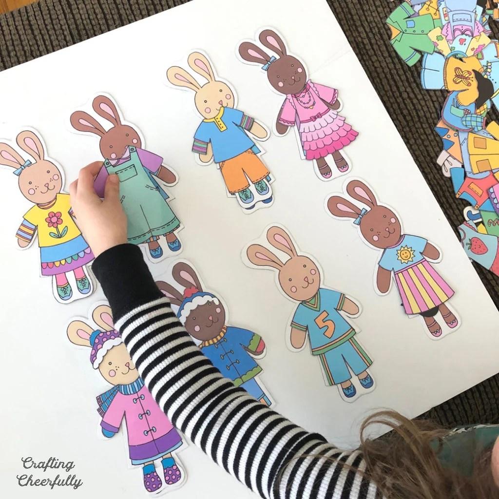 Free Printable Bunny Paper Dolls