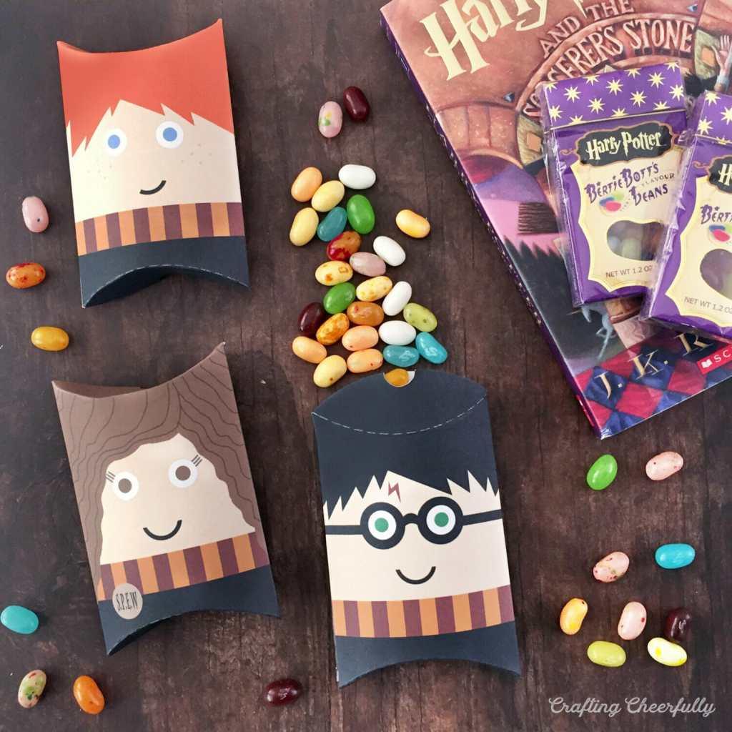 Free Printable Harry Potter Pillow Boxes