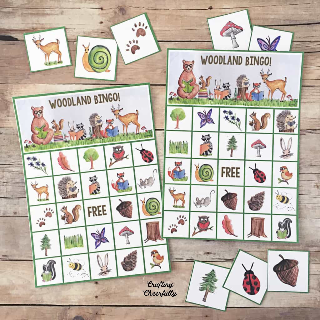 Free Printable Woodland Bingo