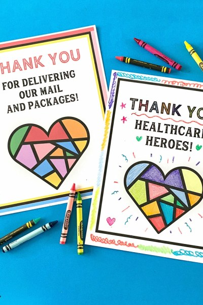 Thank You Coloring Pages for Helpers and Heroes!