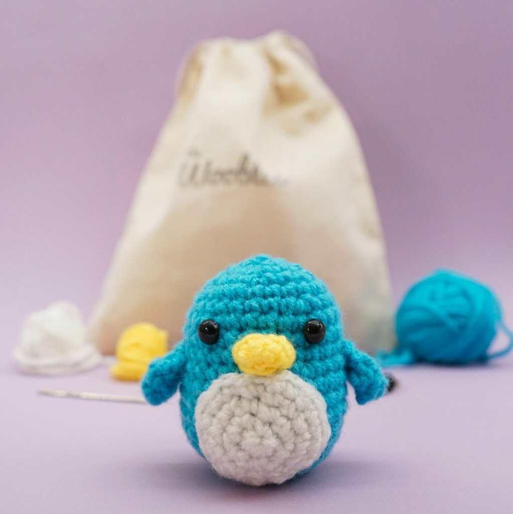 The Woobles Beginner Crochet Kit Penguin