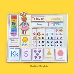 New Preschool Learning Calendar Cards!