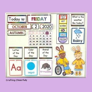 DIY Children's Calendar for At-Home Learning
