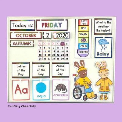 DIY Children's Calendar for At-Home Learning