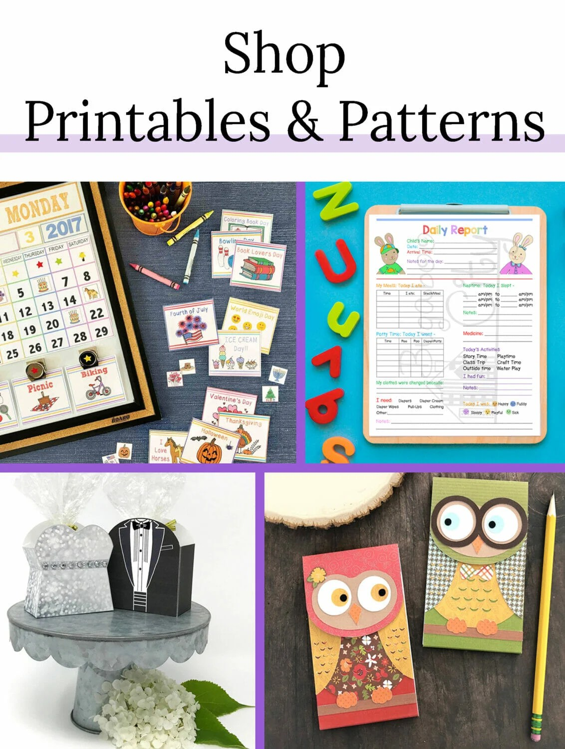 Shop Printables and Patterns from the Crafting Cheerfully Etsy Shop
