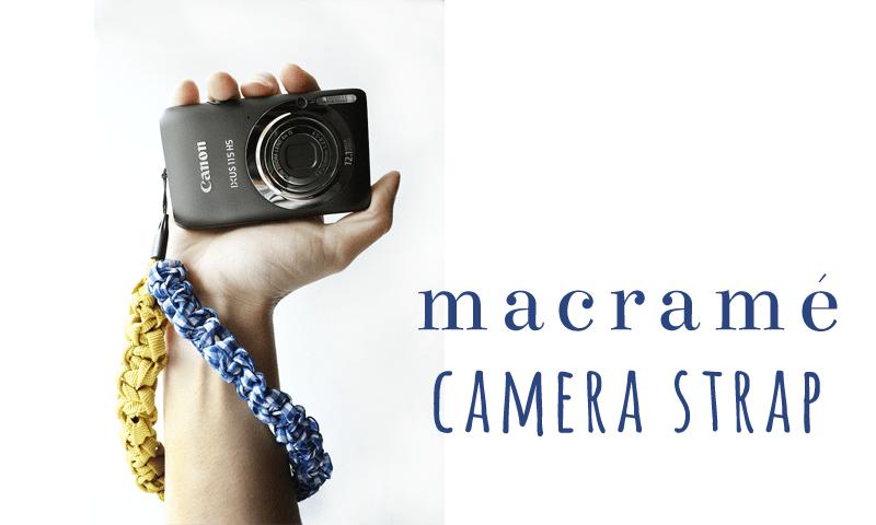 A different take on macrame. Macrame camera strap