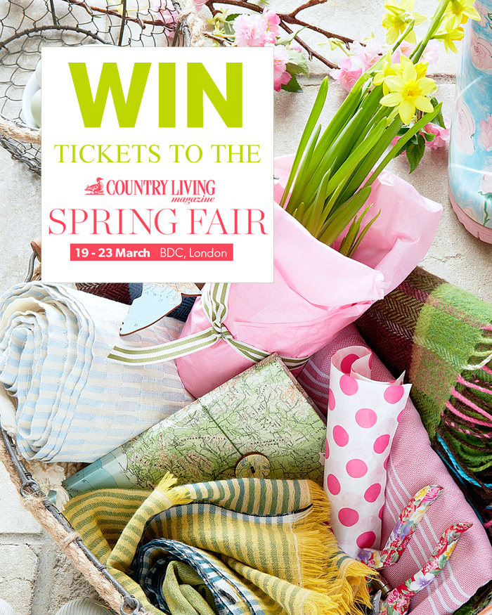 Win tickets to the Country Living Spring Fair (19 - 23 March) in London