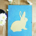 Rabbit splatter wall art tutorial   Crafting Fingers